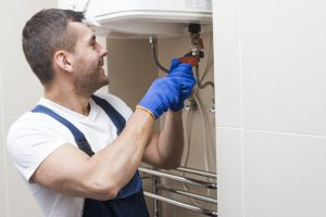 Photo of a professional plumber