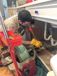 installation of heater by plumber photo