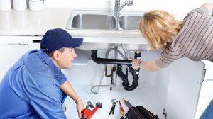 plumber checking photo