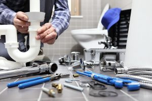 plumber with his tools photo