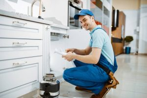 happy at work plumber photo