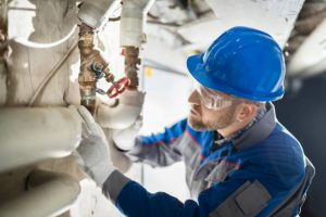 repairing water line photo