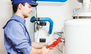 water heater fixed by plumber photo