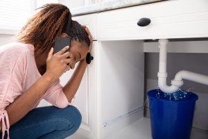 kitchen sink drain leak photo